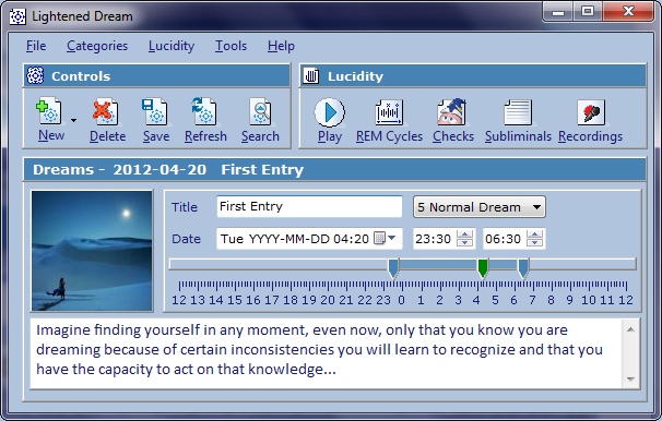 Click to view Lightened Dream 3.3.9 screenshot
